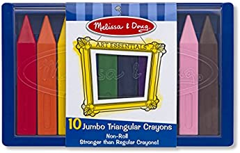 Melissa & Doug Jumbo Triangular Crayons (10 Pieces)