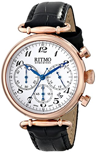 Ritmo-Mundo-Unisex-7032-RG-Black-Corinthian-Analog-Display-Quartz-Black-Watch