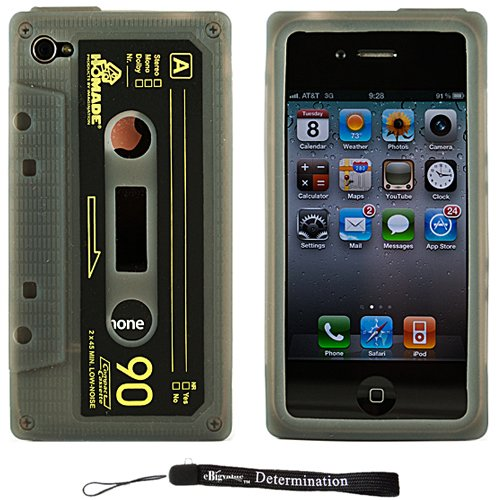 Silicone Cassette Shape Cover Skin Case for New Apple iPhone 4 ( 4th Generation 16GB 32GB - AT&T Only )