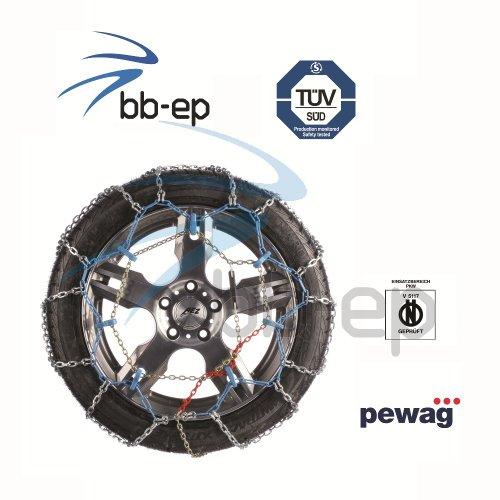 Pewag Schneekette Ring Automatik Empfohlen für PKW´s mit Heckantrieb für die Reifengröße - 195/60- R15 - TÜV geprüft & Ö-Norm V 5117