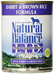 Natural Balance Limited Ingredient Diets - Rabbit & Brown Rice -12x13 oz