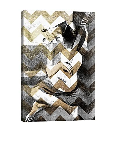 The Old Guitarist XIII Gallery Wrapped Canvas Print