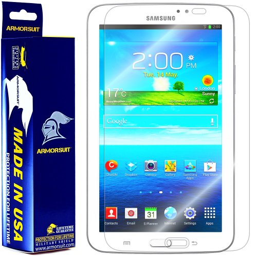 """ArmorSuit MilitaryShield - Samsung Galaxy Tab 3 7.0"""" Tablet Screen Protector Shield + Lifetime Replacements from Electronic-Readers.com"""