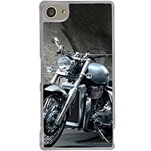 Casotec Motorcycle Design 2D Hard Back Case Cover for Sony Xperia Z5 Mini - Clear