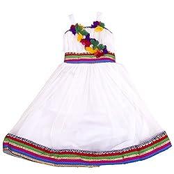 Yashasvi Girl's Frilled Cotton Dress