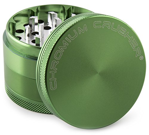 Chromium-Crusher-16-Inch-4-Piece-Tobacco-Spice-Herb-Grinder-Green