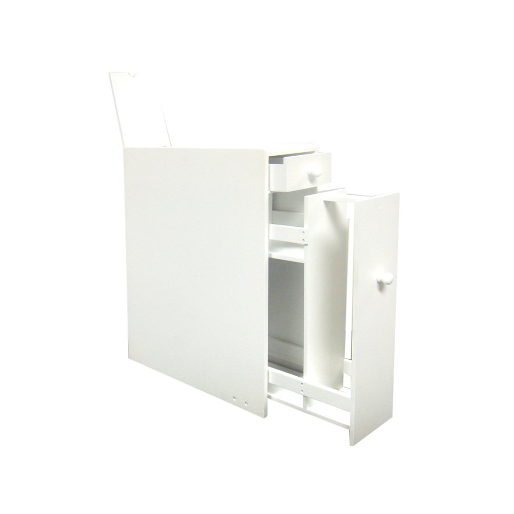 Bathroom Floor Cabinet White Toilet Paper Storage Stand