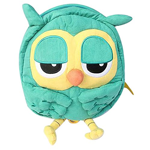 Your Gallery Baby'S Super Cute 3D Green Owl Harness Backpack Plush Handbag, Size L front-1056282