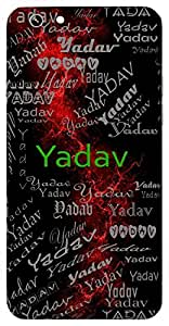 Yadav (Lord Krishna) Name & Sign Printed All over customize & Personalized!! Protective back cover for your Smart Phone : Moto G3 ( 3rd Gen )