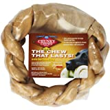 "Chunky Chews® 8"" Beef Braided Rawhide Ring for Large Dogs"
