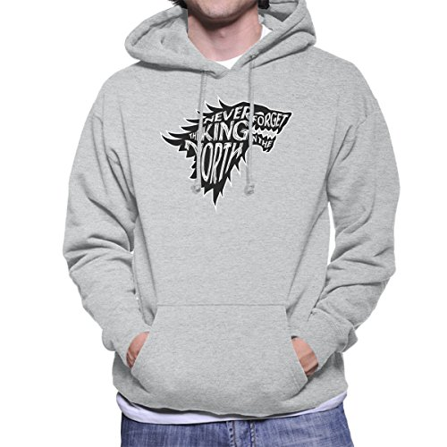 The North Never Forgets The King In The North Game Of Thrones Men's Hooded Sweatshirt