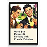 BCreative Weed Papers Smoking With Friends (Officially Licensed) Framed Poster Small 13 X 19 Inches