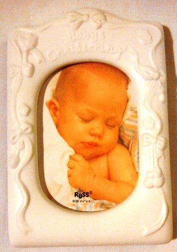 Baby's Christening Porcelain Frame - 1