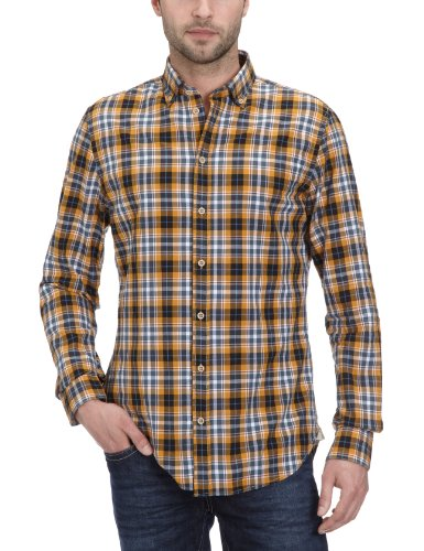 Marc O'Polo Men's 226 1750 42344 Casual Shirt Yellow (228 Inca Gold) 48