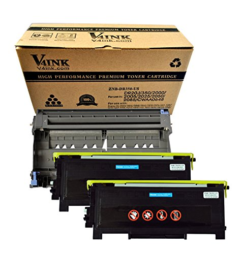 (1 Drum + 2 Toner) V4INK ® New Compatible with Brother DR-350 & 2 x TN-350 Compatible Drum Unit and Toner cartridge for HL-2030 HL-2035 HL-2040 HL-2045 HL-2070 HL-2075 DCP-7010 DCP-7025 MFC-7220 MFC-7420 MFC-7820 FAX-2810 FAX-2820 FAX-2825R FAX-2910 FAX-2920 (Drum Unit 350 compare prices)