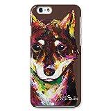 NiJiSuKe (ニジスケ) iPhone6s iPhone6 4.7 インチ ケース カバー 柴犬 側面印刷 / スマホケース 【 保護フィルム付 】