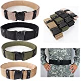 CAMTOA Tactical Belt Adjustable Survival Tactical EMT Security Police Duty Utility Belt A-Green