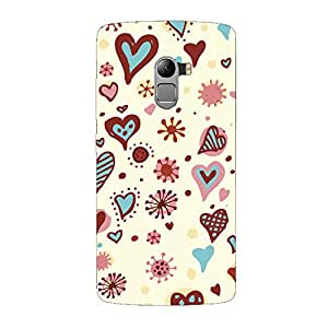 Clapcart Hearts Design Printed Mobile Back Cover Case For Lenovo K4 Note / Lenovo A7010 -Multicolor