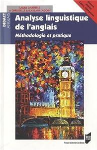 8d01a4d49abe Analyse linguistique de l'anglais : Méthodologie et pratique - Babelio