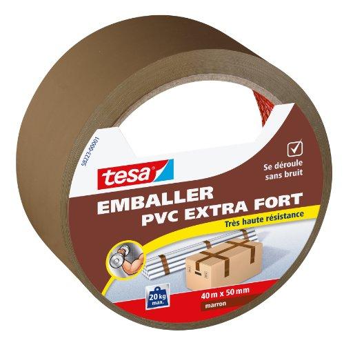 tesa-emballer-adhesif-de-fermeture-pvc-extra-fort-marron-40m-x-50mm