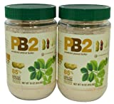 Bell Plantation PB2 Peanut Butter, 1 lb Jar (2-pack)