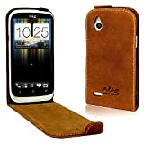 Perfect Case ® Stil Better PREMIUM QUALITY genuine leather Flip Case for HTC Desire X - Brown