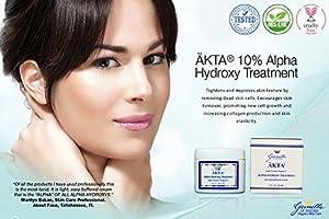 ÄKTA® 10% Alpha Hydroxy Treatment 2 oz: Based on Nutrient Rich Organic Aloe- Best AHA Treatment-Potent Blend of Glycolic, Lactic, Malic, Tartaric, and Citric Acid- Naturally Lighten, Brighten, Tighten Damaged Skin- Hydroquinone Free from Gunilla Of Swed
