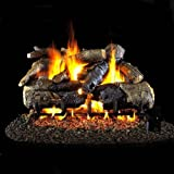 Peterson Real Fyre 18-inch Charred American Oak Log Set With Vented Natural Gas G4 Burner - Match Light