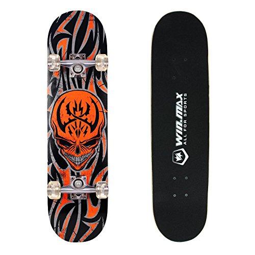 senmi-winmax-9-plies-derable-skateboard-planche-a-roulette-pour-debutant-intermediaire-skull-cool-av