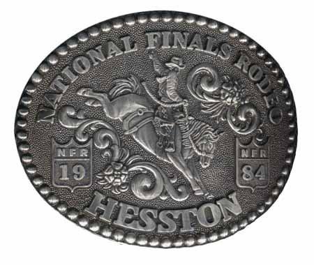 1984 Hesston National Finals Rodeo Belt Buckle -- Saddle Bronc -- Mint NIP