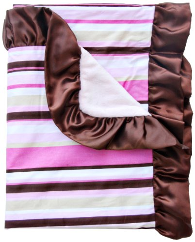 Caden Lane Classic Collection Stripe Ruffle Blanket - 1