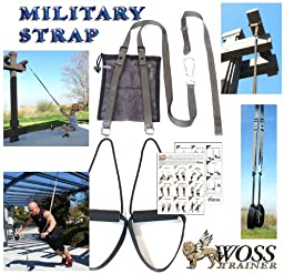 WOSS Military Strap Trainer, Gunmetal Grey, Made in USA