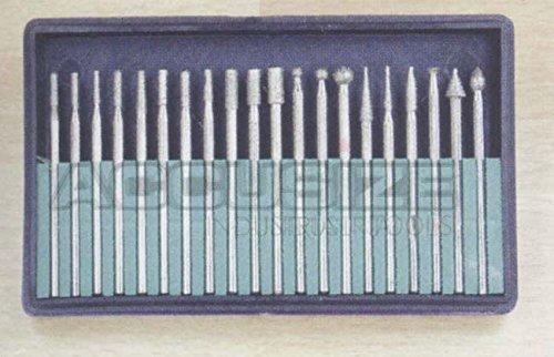 Accusize - jeu de 20 meulettes dimantées, taille de shank: 1/8''. #EXP1-0050