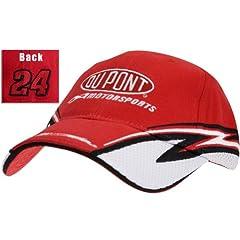 Buy Jeff Gordon - Mens Nascar - Jeff Gordon #24 Speed Adjustable Baseball Cap Red by Old Glory