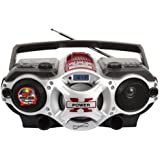Supersonic SC1395RD USB/SD/AUX/Radio Portable Audio Player, Red