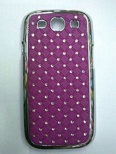 Maclogy 2014 Latest Fashion Design Luxury Dazzling Rhinestones Shiny Crystal Diamond Plating Protective Shell Trapped Difficult Cases Samsung Galaxy S3 I9300 And Fashion Chain Crystal Ornaments Color Uv Radiation Gifts (Purple)