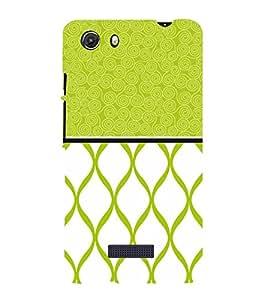 Greenish Self Design 3D Hard Polycarbonate Designer Back Case Cover for MIcromax Canvas Unite 3 Q372