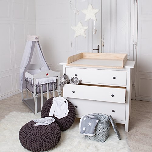 naturholz wickeltischaufsatz f r ikea hemnes oder hurdal kommode baby. Black Bedroom Furniture Sets. Home Design Ideas