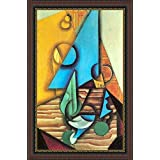 Bottle And Glass On A Table By Juan Gris - ArtsNyou Printed Paintings - B00QA0GD7S