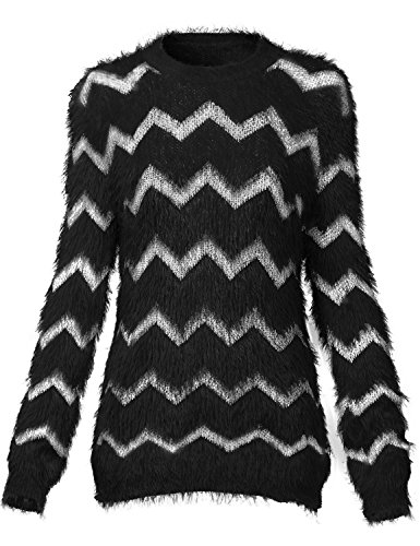 Warm Fluffy Round Neck Pullover Sweaters