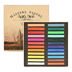 amazoncom chalk hair color master pastel 24 color 24