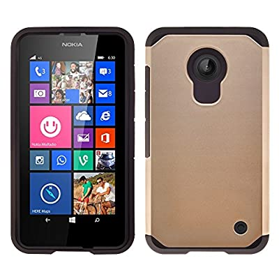 Nokia Lumia 635 Case, Leather Wallet Case with Card Slots Cash Compartment and Detachable Wrist Strap for Nokia Lumia 635 Wallet Case (T MOBILE/ METRO/BOOST) by GALAXY WIRELESS