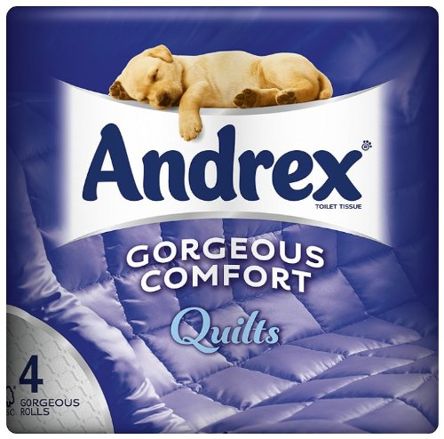 Andrex 4 Roll Quilts Toilet Tissue 160 Sheets (Pack of 10, Total 40 Rolls)