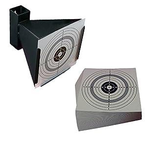 Trichterkugelfang für Druckluftwaffen und 100 shoot-club Zielscheiben im Format 14x14 cm