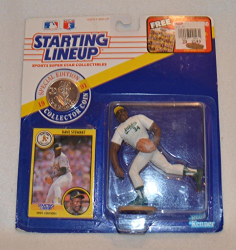 Starting Lineup MLB Dave Stewart 1991 Special Edition With Collector Coin & Trading Card From Kenner