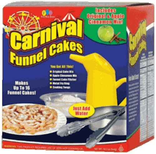 (Set) Carnival Deluxe Funnel Cakes Kit with Funnel Cakes Refill Mix