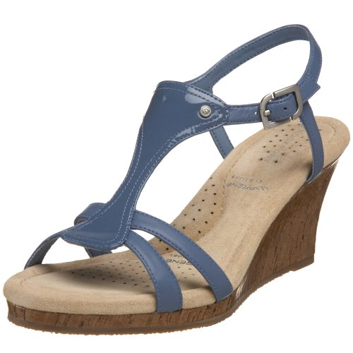 Rockport Women's Emily T-Strap Wedge Sandal Denim Blue K52272 6 UK