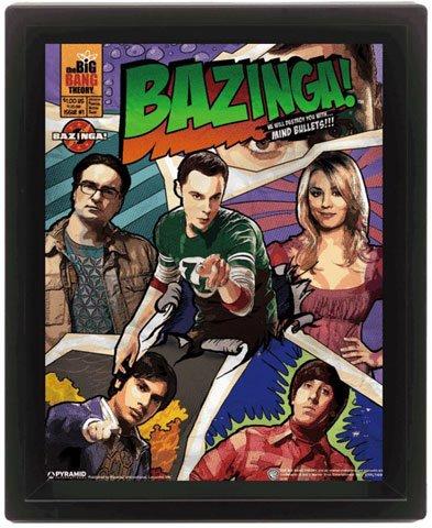 Big Bang Theory, The - Comic Bazinga - pronta da palloncino 3D Poster - dimensioni 20 x 25 cm