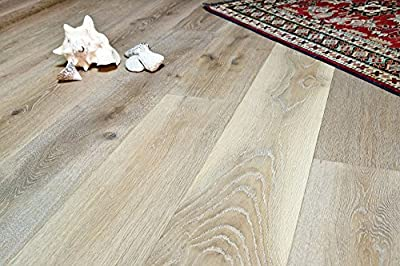 """Wide Plank 7 1/2"""" x 1/2"""" European French Oak (Antique White) Prefinished Engineered Wood Flooring Sample at Discount Prices by Hurst Hardwoods"""