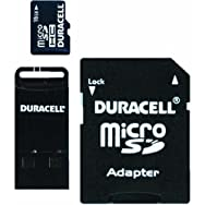 Duracell Micro SD Memory Card With SD And USB Adapter-16GB MICRO SD MEMORYCARD